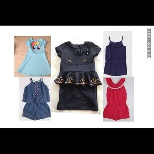 H&M & Lucky Brand rompers & dresses 3t